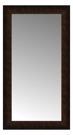 """Posters 2 Prints, LLC - 17"""" x 30"""" Dark Copper Custom Framed Mirror - 17"""" x 30"""" Custom Framed Mirror made by Posters 2 Prints. Standard glass with unrivaled selection of crafted mirror frames.  Protected with category II safety backing to keep glass fragments together should the mirror be accidentally broken.  Safe arrival guaranteed.  Made in the United States of America"""