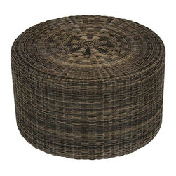 Addison Outdoor Side Table - This outdoor-friendly side table could double as extra seating, an ottoman or a plant stand, and the natural texture would look beautiful against a neutral area rug.