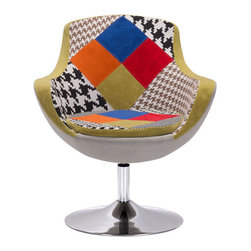 Walloon Occasional Chair - Polyblend & Chromed Steel.