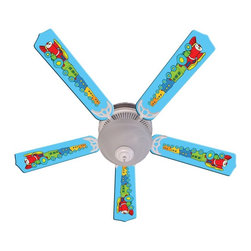 Ceiling Fan Designers - Ceiling Fan Designers Kids Train Choo Choo Indoor Ceiling Fan - 42FAN-IMA-KTCC - Shop for Ceiling Fans and Components from Hayneedle.com! Colorful and cute the Ceiling Fan Designers Kids Train Choo Choo Indoor Ceiling Fan is a sweet addition to your nursery. This ceiling fan and light kit combo is loaded with pastel color and a soft and cuddly train theme. It comes in your choice of size: 42-inch with 4 blades or 52-inch with 5. The blades are reversible so you get the colorful design on one side and white on the other. It has a powerful yet quiet 120-volt 3-speed motor with easy switch for year-round comfort. The 42-inch fan includes a schoolhouse-style white glass shade and requires one 60-watt candelabra bulb (not included). The 52-inch fan has three alabaster glass shades and requires three 60-watt candelabra bulbs (included). Your ceiling fan includes a 15- to 30-year manufacturer's warranty (based on size).