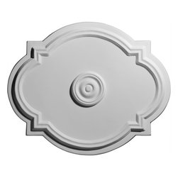 """Ekena Millwork - 21 1/4""""W  x 17 3/8""""H x 7/8""""ID x 1""""P Waltz Ceiling Medallion - 21 1/4""""W  x 17 3/8""""H x 7/8""""ID x 1""""P Waltz Ceiling Medallion. Our ceiling medallion collections are modeled after original historical patterns and designs. Our artisans then hand carve an original piece. Being hand carved each piece is richly detailed with deep relief, sharp lines, and a truly unique touch. That master piece is then used to create a mould master. Once the mould master is created we use our high density urethane foam to form each medallion. The finished look is a beautifully detailed, light weight, solid construction, focal piece. The resemblance to original plaster medallions is achieved only by using our high density urethane and not vacuum formed, """"plastic"""" type medallions. - Medallions can be cut using standard woodworking tools to add a hole for electrical or a ceiling fan canopy. - Medallions are light weight for easy installation. - They are fully primed and ready for your paint. If you have any questions feel free to ask. These are in stock and available for immediate shipment."""