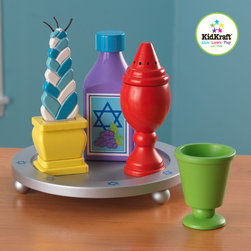 Kidkraft - Kids Furniture  Havdalah Cookware Set From Vistastores - Celebrate the end of the Sabbath with KidKraft's Havdalah Set. Crafted from wood and perfectly sized for little hands, Celebrate the end of the Sabbath with KidKraft's Havdalah Set, Kiddush Wine, Goblet, Braided candle, Incense holder (bisamim), Tray.