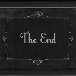 The Artwork Factory - Silent Movie The End Framed Artwork - Ready-to-Hang, 100% Made in the USA, museum quality framed artwork