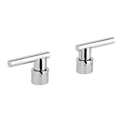 Grohe - Grohe 18027000 Starlight Chrome Atrio Atrio Lever Handles - Add the finishing touch to your bathing space with one of GROHE´s spectacular faucet designs. Modern or traditional, a GROHE faucet will be the talking point of your bathroom or kitchen. Lever handles Sold in pairs For Kitchen/Bar and Lavatories