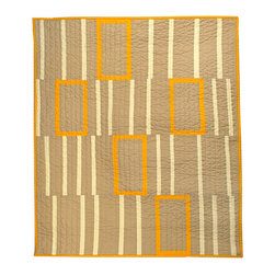 Baby Quilt Orange Boxes by B Perrino Quilts - This is another great quilt made by Barbara Perrino. It's called Orange Boxes, and it is sized for a baby.