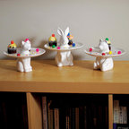 Rabbit Plate: Serving Trays, Serving Platters, Cupcake Stands & Cookie Platters - The Rabbit Plate from Stardust can be used as a decorative serving tray, serving platters, cupcake stand & cookie platter. It's about time you were allowed to have your cake and eat it too, and while you're at it, why not display said cake on the beautiful Rabbit Serving Plate, a cute little cake stand tray for cookies, small cupcakes, pralines and whatnots.