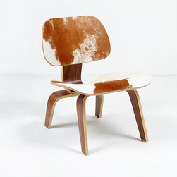 Modern Classics - Eames: Molded Ply Lounge Chair Reproduction - With Pony Hide - Features: