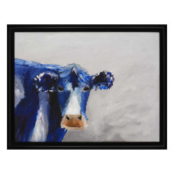 Paragon - One Blue Moo - Framed Art - Each product is custom made upon order so there might be small variations from the picture displayed. No two pieces are exactly alike.
