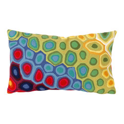 """Trans-Ocean - Pop Swirl Red Pillow - 12""""X20"""" - The highly detailed painterly effect is achieved by Liora Mannes patented Lamontage process which combines hand crafted art with cutting edge technology.These pillows are made with 100% polyester microfiber for an extra soft hand, and a 100% Polyester Insert.Liora Manne's pillows are suitable for Indoors or Outdoors, are antimicrobial, have a removable cover with a zipper closure for easy-care, and are handwashable."""