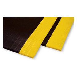"buyMATS Inc. - 3' x 5' Safety Soft Foot 3/8"" Pebble Black/Yellow - Features:"