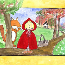 Oh How Cute Kids by Serena Bowman - Little Red Riding Hood, Ready To Hang Canvas Kid's Wall Decor, 16 X 20 - Each kid is unique in his/her own way, so why shouldn't their wall decor be as well! With our extensive selection of canvas wall art for kids, from princesses to spaceships, from cowboys to traveling girls, we'll help you find that perfect piece for your special one.  Or you can fill the entire room with our imaginative art; every canvas is part of a coordinated series, an easy way to provide a complete and unified look for any room.