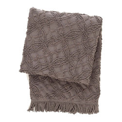 Pine Cone Hill Candlewick Shale Throw Blanket - This throw blanket is the perfect way to add texture/layers to a space. Throw it on the back of a chair for an extra layer, and the design gives you plenty of texture. It's the perfect way to start finishing up your room and pulling it together.