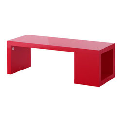 LACK Coffee Table, High Gloss Red - Ikea is a great place to find bold furniture and accent pieces. This glossy red coffee table is only $49.99.