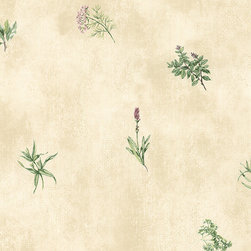 Herb in Beige and Green - KC18535 - Book Name:Kitchen Elements