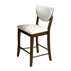 Jofran - Jofran 433-BS406KD Satin Walnut Shield Back Faux Leather Stool [Set of 2] - Combining traditional details with modern designs, Jofran has a collection to compliment any home decor. This satin walnut 40 inch shield back stool belongs to 433 series - walnut collection by Jofran inc. The classic formulas of color combinations are not valid in Jofran furniture territory: here is ruled by laws solely of your own preferences and fantasies. Huge selection of colors in combination with a wide choice of shapes and sizes allow you to find among this variety precisely the furniture you've always wanted to see in your home. Jofran furniture offers high quality, casual furniture pieces that are constructed from premium Asian hardwoods, and finished with beautiful veneers. Durable materials and quality assembly will help your furniture to serve for many years and will not let you be disappointed in your choice.