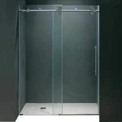 VIGO VG6041CHCL6074 Frameless Shower Door