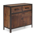 Presidio Cabinet - Small spaces, lofts, and studios are usually big on charm but short on built-in storage. The Presidio Cabinet looks great when flush against the wall and next to a comfortable lounge chair. Additionally, this piece gives you two drawers and a doored compartment with one shelf, so all of your loose items can be stored tidily and out of plain view.
