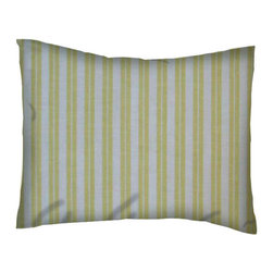 SheetWorld - SheetWorld Crib / Toddler Percale Baby Pillow Case - Yellow Dual Stripe - Baby or Toddler pillow shams. Made of an all cotton percale fabric. Opening is in the back center and is envelope style for a secure closure.