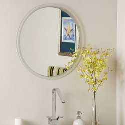 Decor Wonderland - Frameless Dia Wall Mirror - 23.6 diam. in. Multicolor - SSM440 - Shop for Bathroom Mirrors from Hayneedle.com! Bring a touch of classic beauty to your home with this frameless Dia Mirror. The durable double coating silver backing and seamed edges gives this piece an added touch of elegance. Perfect for any room in your home this mirror is crafted out of strong 3/16 glass this mirror is also able to be mounted vertically or horizontally. The mounting hardware is included for your convenience.Decor Wonderland of USDecor Wonderland US sells a variety of living room and bedroom furniture mirrors lamps home office necessities and decorative accessories. Decor Wonderland strives to add variety to their selection so that every home is beautifully and perfectly decorated to suit their customer's unique tastes.