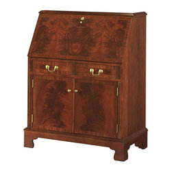 Jasper Cabinets - Computer Desk with Drop Front & Interior Stor - Finish: Red with crackleRichly finished with your choice of popular stains, this Sterling computer desk is a smart buy. You'll appreciate its spacious, clever storage options - ideal for your laptop, files, supplies and more. Lockable drop-down lid adds security and concealed privacy. Signature drop lid slide mechanism and lid lock. Pigeon holes and additional storage behind drop lid. Four solid wood drawers with interlocking drawer runner. Adjustable floor levelers. Made from Maple solids with Crotch Mahogany and sketch faced veneer. Assembly required. 36 in. W x 20 in. L x 45 in. H (150 lbs.)I'm sure you've all seen the magnificent secretary that graces the homes of friends and families. Some have been handed down through generations, some are new, but still are rich with history. With it's many features this beautiful Secretary is a must for your home. Finished in a Red Mahogany is what makes this a magnificent piece you can't walk away from.