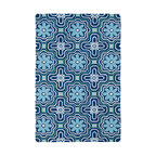 "Kaleen - Kaleen Matira Collection Mat02-17 7'6""X9' Blue - Matira is inspired from the absolutely beautiful and breathtaking secluded beaches of Bora Bora. White powdery sand, crystal clear blue waters, and the lush botanical surroundings embrace every aspect of this collection. Each rug is UV protected and handmade with 100% Polypropylene. Complete with our special  K-Stop Non-Skid Backing , Matira will be your perfect anchor to a magical getaway."