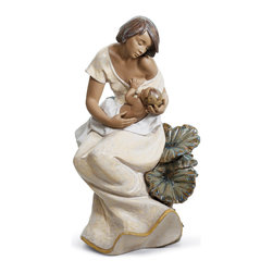 """Lladro Porcelain - Lladro A Beautiful Bond Figurine - Plus One Year Accidental Breakage Replacement - """"Hand Made In Valencia Spain - Sculpted By: Joan Coderch - Included with this sculpture is replacement insurance against accidental breakage. The replacement insurance is valid for one year from the date of purchase and covers 100% of the cost to replace this sculpture (shipping not included). However once the sculpture retires or is no longer being made, the breakage coverage ends as the piece can no longer be replaced. """""""