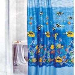 ocean fish shower curtains - Gorgeous Tropical Fish Shower Curtain