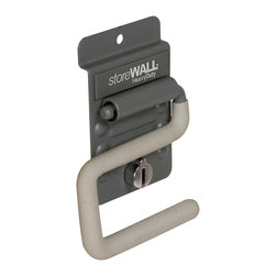 "Storewall - Heavy Duty ""S"" Hook w/camLok - Got a broom? How about a rake? Perhaps a snow shovel? The storeWALL HD S Hook is designed to store your long handled tools safely and securely. The S-Hook can hold items up to 1.5"" thick"