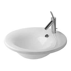 Duravit - Duravit | Starck 1 Washbasin 22-Inch - Design by Philippe Starck.Made in Germany by Duravit.A part of the Starck 1 Collection. The simple drop-in style of the Starck 1 Washbasin 22-Inch works well with existing counter tops or vanities. The circular shape catches water with ease while the durable construction holds its modern appeal for years to come. Product Features: