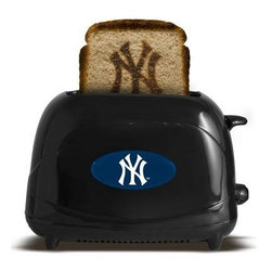 """Pangea - New York Yankees ProToast Elite Black - New York Yankees ProToast Elite. Fire up your team spirit at breakfast with this Pangea Brands ProToast Elite 2-slice toaster that brands your favorite logo onto your bread to salute your favorite team. Seven heat settings let you control the level of browning. 600-700watts. 36"""" Cord length. Black."""