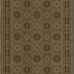 """Royal RY-01 Slate Rug - 7'10""""x10'10"""" - Royal is an elegant collection of traditional designs in a power-loomed construction of soft polypropylene. Old world motifs adorn these densely plush pieces that will add a rich touch to any dcor."""