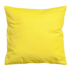 Canvas Cushion Cover, Yellow - Yellow is such a happy color for summer. Plus, throw pillows require zero commitment.