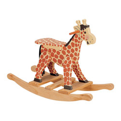 Teamson Design - Teamson Kids Safari Hand Painted Giraffe Themed Kids Rocking Chair - Teamson Design - Ride On Toys - W3157A. A cute hand painted rocking chair with a picture frame. Notice the Safari theme that covers the entire chair, perfect for a jungle theme!