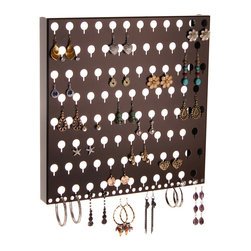 Earring Holder Organizer - Sariea Earring Angel - The Sariea Earring Angel is an earring holder and body jewelry organizer that was specifically created to organize a variety of types and sizes of earrings from tiny stud earrings to medium sized dangles and hoops as well as other body jewelry.