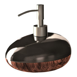 Maestrobath - Glamour Bathroom Accessory set Brown Black - This Luxury Bathroom Set is Available in Black Silver, Brown Black, and White Silver Colors.  Glamour bathroom accessory is a great addition to any bathroom.