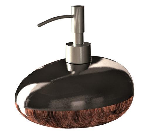 Maestrobath - Glamour Bathroom Accessory set Brown Black - This Luxury Bathroom Set is Available in Black Silver, Brown Black, and White Silver Colors.  Glamour bathroom accessory is a great addition to any bathroom.
