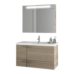 ACF - 39 Inch Larch Canapa Bathroom Vanity Set - Part of the ACF New Space collection, this wall bathroom vanity is essential.