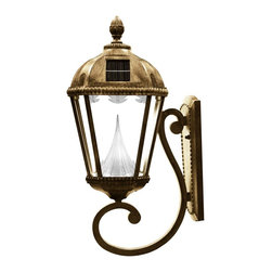 Gama Sonic - Gama Sonic  GS-98W Royal Solar Lamp Wall Mount - Go Green with our Royal Solar Lamp Posts. This solar powered lamp will fit great on pillars, fences, or any exterior walls.