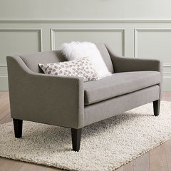 modern love seats by West Elm