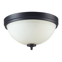 Z-Lite - Z-Lite 604F2 Harmony 2 Light Flushmount Ceiling Fixture - With a contrasting white shade and crystal sphere, this two-bulb flush mount is a unique mix of contemporary and traditional styling. Finished in matte black, this fixture creates an elegant yet bold statement.Features:
