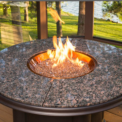 Grand Colonial Fire Pit Table - Grand Colonial Fire Pit Table with Copper Burner. Get it at www.outdoorrooms.com