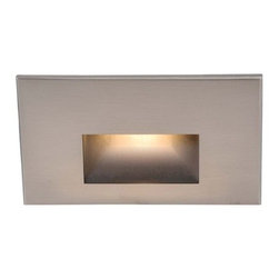 WAC Lighting - WAC Lighting | LED100 LEDme Step Light - Horizontal rectangle scoop LED100 LEDme® Step Light from WAC Lighting. Designed for safety and style on stairways, patios, decks, balcony areas, walkways and building perimeters. Features an architectural design and energy efficient lamping for long-lasting indoor and outdoor lighting solutions that creates an attractive, romantic impression at night. Features:
