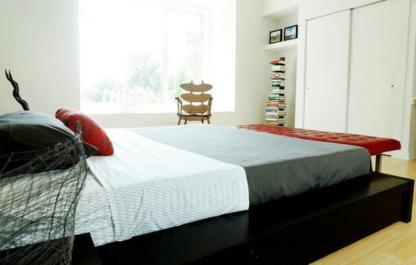Contemporary Bedroom by Maureen Stevens
