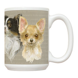 455-Chihuahua Mug - 15 oz. Ceramic Mug. Dishwasher and microwave safe It has a large handle that's easy to hold.  Makes a great gift!
