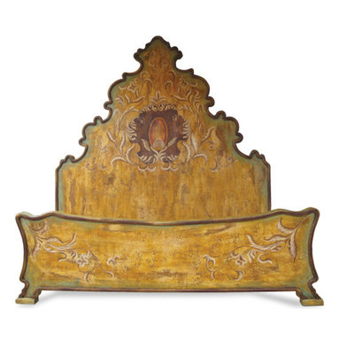 Bedroom Furniture - This eclectic bed features a bold and elaborate design that can be customized further to fit your specific interior design. You can see more finishes and furniture online at www.KoenigCollection.com
