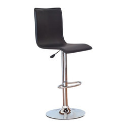 Winsome - Winsome Wood Adjustable Single Curve Back Air Lift Swivel Bar Stool Multicolor - - Shop for Stools from Hayneedle.com! The Winsome Wood Adjustable Single Curve Back Air Lift Swivel Bar Stool is both fun and fashionable - and perfectly comfortable too. Constructed of a bright chrome frame complete with bar-style footrest and round base this stool features a seat upholstered in black leather-like PVC which wipes clean easily for low maintenance. Ideal for home bars or kitchen islands this stool features an adjustable seat height (from 22.64 to 31.1 inches) which is operated by a lever-activated airlift. The seat also swivels for easy access. This modern-style piece is a splendid addition to any seating arrangement.Overall Dimensions: 15.94W x 19.09D x 37.4H inches.Chair Height will adjust from 37.4 to 45.5 inches.Seat Height will adjust from 22.5 - 31 inches. Please note: This item is not intended for commercial use. Warranty applies to residential use only.About Winsome TradingWinsome Trading has been a manufacturer and distributor of quality products for the home for over 30 years. Specializing in furniture crafted of solid wood Winsome also crafts unique furniture using wrought iron aluminum steel marble and glass. Winsome's home office is located in Woodinville Washington. The company has its own product design and development team offering continuous innovation.