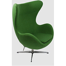 Wool Egg Chair, Green - Now this egg chair in kelly green is a statement!