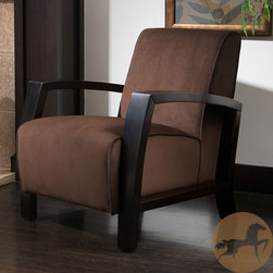 Christopher Knight Home - Christopher Knight Home Emerson Microfiber Brown Club Chair - Sleek and beautiful, this Emerson club chair features soft brown microfiber upholstery. The dark wood finish adds a handsome touch to this elegant club chair.