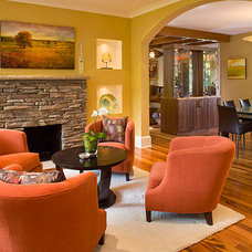 Contemporary Family Room by Superior Home Services Inc