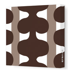 "Avalisa - Pattern - 115 Stretched Wall Art, 12"" x 12"", Brown - Add a pop of color to any room with this playful work of art. Each piece is printed on fabric and applied to stretchers for a straight-from-the-gallery look. Use one to dress up a naked wall, or hang them in a group for maximum impact."